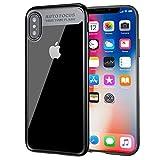 【1年保証】 Baseus Suthin case iPhoneXケース/アイフォンXケース/透明PC+柔らかなTPU クリア/ハイブリッド スリム フィット/落下 衝撃 吸収/アイフォン用 耐衝撃カバー (ブラック) ARAPIPHX-SB01