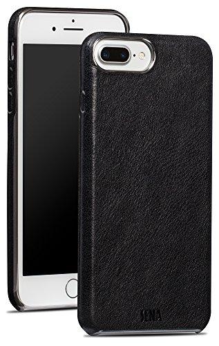 Sena - Funda ultrafina para iPhone 6, 7, 8 Plus (piel, cierre a presión), color negro