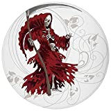 ZMYGH Round Rug Mat Carpet,Gothic,Illustration of Skeleton Grim Reaper Dead Farmer Skull with Hood...