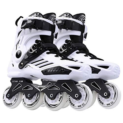 Ice-Beauty-ukzy Herren Adult Fitness Inline Skate, Frau Performance Inline Skates für Freeride, Freeskate, ABEC-7 Bearing, City Skating (Lila, Schwarz, Weiß) white-41