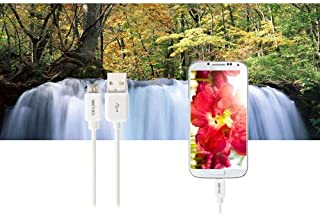 Micro USB 2.0 Cable Charge Data Sync compatible with Samsung Galaxy S4 i9500 i9300 S3 Note 2 HTC White