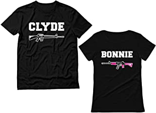Bonnie & Clyde for Him & Her Matching Couples T-Shirts