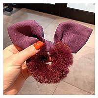 ヘアロープ モノクロームヘアバンドの女性の髪のバンドポニーテールの髪のロープの髪のつくかわいい女の子のヘアアクセサリー (Farbe : Purple, Größe : Einheitsgröße)