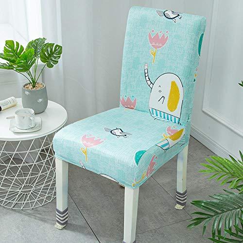 Fundas para sillas Verde Claro Lindo Spandex Fundas sillas Comedor Lavable Extraíble Funda Muy fácil de Limpiar Duradera Modern Bouquet de la Boda Hotel Decor Restaurante 8/Piezas
