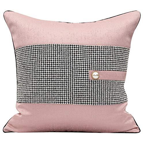 Tylyund Funda de cojín decorativa simple moderno rosa fresco faja de golondrina patchwork primo sofá silla ropa de cama textil