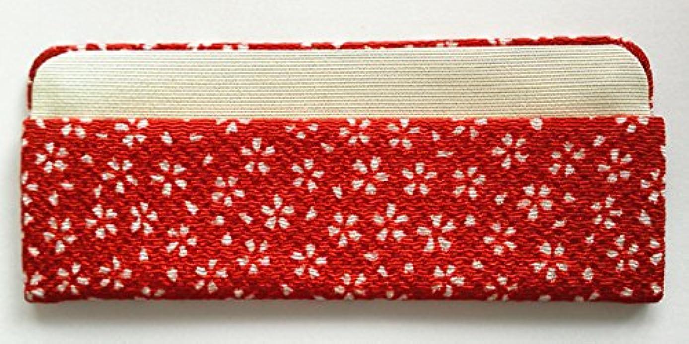 暗記する海里安価な「櫛ケース」3.5寸とき櫛専用 (赤/桜吹雪)