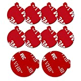 10 Pack 3M Sticky Adhesive Replacement Compatible with Socket Mount Base, volport VHB Sticker Pads for Car Magnetic Phone Holder and 2pcs 1.38 Inches Double Sided Tape for Collapsible Grip & Stand