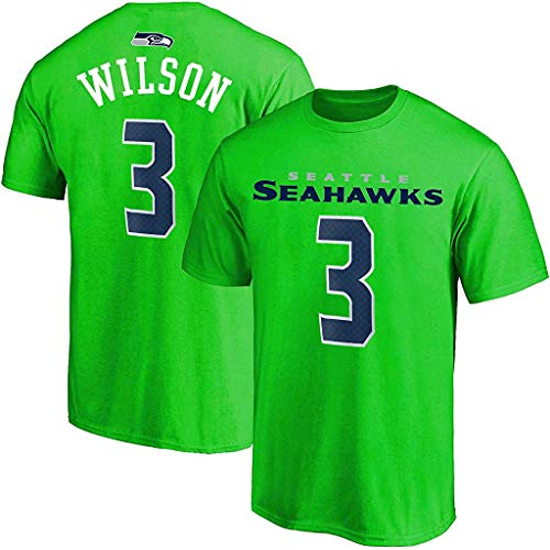 Outerstuff NFL Youth 8-20 Alternate Polyester Performance Mainliner Player Name and Number Jersey T-Shirt (Russell Wilson Seattle Seahawks Green Alternate, 10-12)
