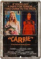 キャリー映画ヴィンテージティンサイン装飾ヴィンテージ壁金属プラークカフェバー映画ギフト結婚式誕生日警告のためのレトロな鉄の絵