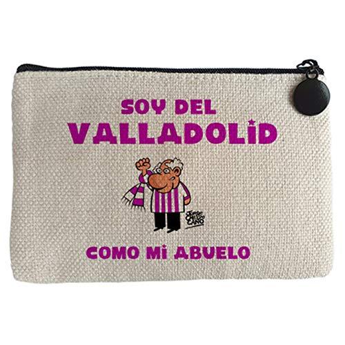 Diver Bebé Monedero soy del Valladolid como mi abuelo - Beige, 15 x 10 cm