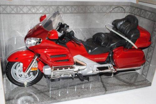 Motormax Hon-da Goldwing Rot 1/6 Modell Motorrad mit individiuellem Wunschkennzeichen
