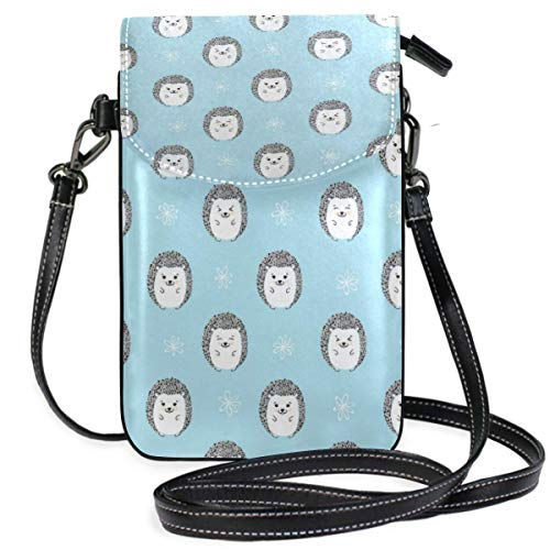 XCNGG Kleine Geldbörse Hedgehogs Pattern Cell Phone Purse Wallet for Women Girl Small Crossbody Purse Bags