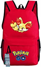 ZFX Pocket Monsters Pikachu Gengar Students Backpacks Shoulder Bags Schoolbag