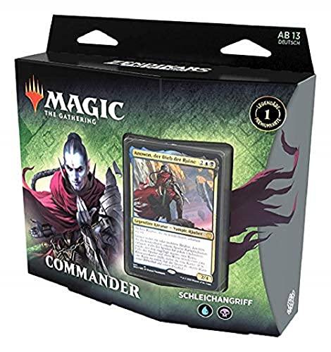 Magic: The Gathering Zendikars Erneuerung Commander-Deck – Schleichangriff, Spielbereites Deck mit 100 Karten, Blau-Schwarz