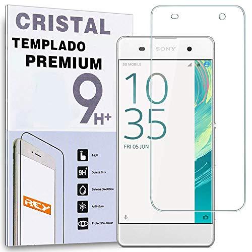 REY Protector de Pantalla para Sony Xperia XA Cristal Vidrio Templado Premium