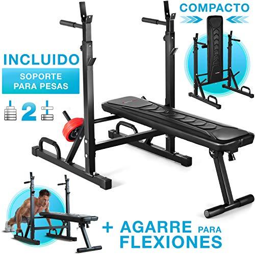 Sportstech 21en1 Banco de Pesas Innovador con Soporte para Pesas y Asas...