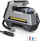 EzLife Portable Air Compressor Tire Inflator EL-3631, Car Tire Pump with Digital Pressure