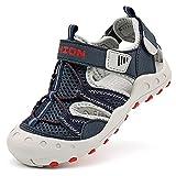Sandalias para niño Sandalias Deportivas Zapatillas de Trekking Sandalias de Senderismo Niña Sandalias de Vestir(J Dark Azul,34 EU)