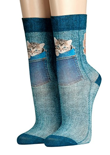 Wigglesteps Jeans Cat, farbig, One size