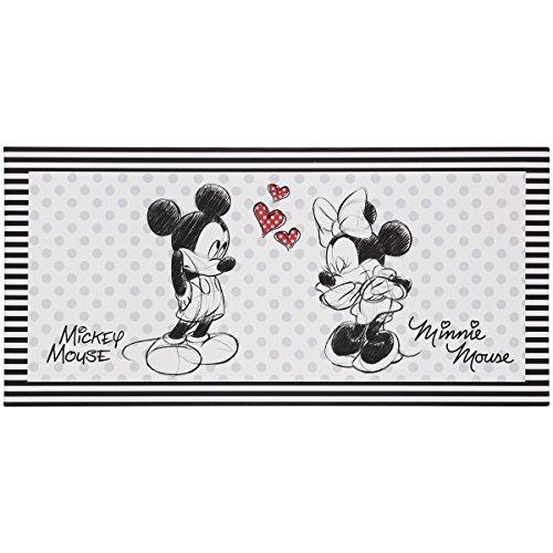 BilligerLuxus Wandbild Keilrahmen Kunstdruck 33x70 Disney Minnie und Mickey Maus schwarz weiß