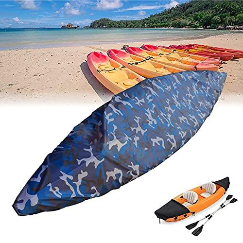 WANDK Copertura Kayak da 10-13ft Impermeabile 420D Soffruttamento Addensato Oxford Coperture in Canoa di Canoa di Oxford, stoccaggio all aperto Boat UV Barca UV per la PES 2.1-2.5
