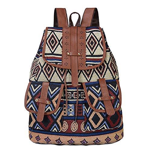 Ethnischen Stil Retro-Muster Rucksack Leinwand Handtaschen Mode Persönlichkeit Reise zeichnen kleinen Rucksack, indische Mythologie