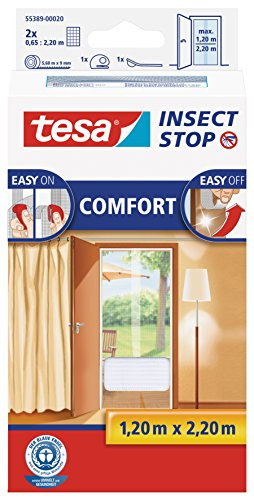 tesa Insect Stop Comfort - Mosquito Nets (2200 x 60 x 1200 mm, ABS sintéticos, Blanco, 454 g)