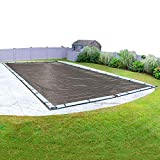 Robelle Magneisum 592040R Magnesium Winter Cover for In-Ground Swimming Pools, 20 x 40-ft, Brown