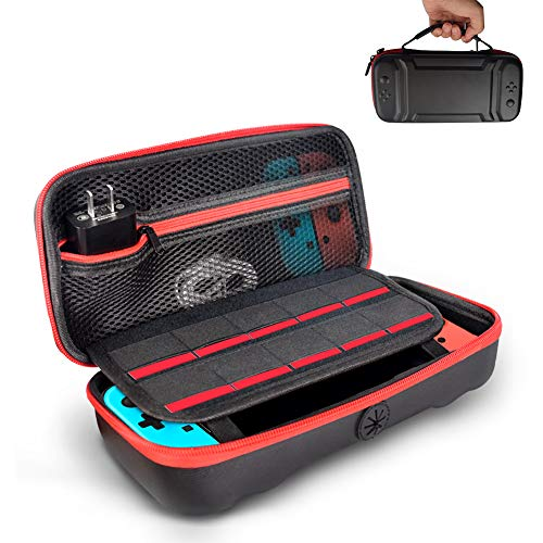 Opard Tasche für Nintendo Switch, Nintendo Switch Tragetasche mit Ständer, Lagerung 10 Spiele/Schutz hülle Griff Design/Mesh-Schutzdesign Nintendo Switch Zubehör