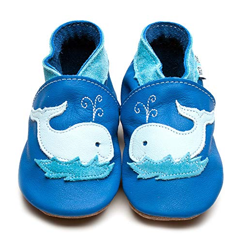 Inch Blue   Whale Krabbelschuh - blau   blue , Farbe:blau;Größe:1