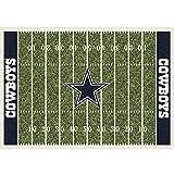 "Dallas Cowboys NFL Team Home Field Area Rug by Milliken, 5'4"" x 7'8"", Multicolored"
