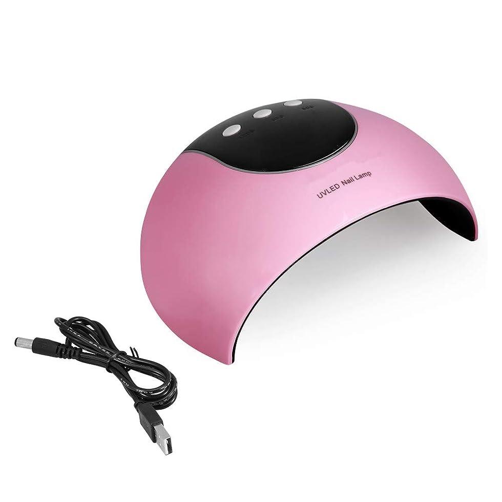 急行するボーカルブレースUVネイルランプ - 24W LEDネイルマニキュアランプネイルポリッシュドライヤーオートセンサーマシンネイルアートドライヤーピンク (Color : Pink)