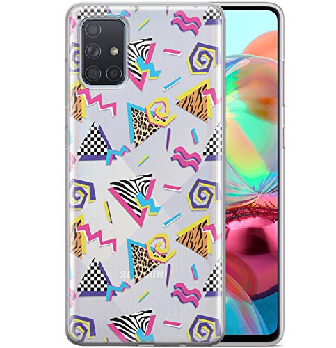 Toik Case Compatible with Samsung Galaxy A72 A71 5G A60 A50 A51 A42 A30 A21s A12 80s Silicone Geometric TPU Protective Cute Cover Pop Art Glam Lightweight Clear Retro Flexible Leopard Slim phpat334