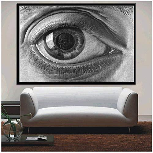 Auge Poster und Drucke Escher Surreal Kunstwerk Moderne Abstrakte Poster Wandkunst Bild Leinwand Gemälde für Room Home Decor-50x70cm-No Frame