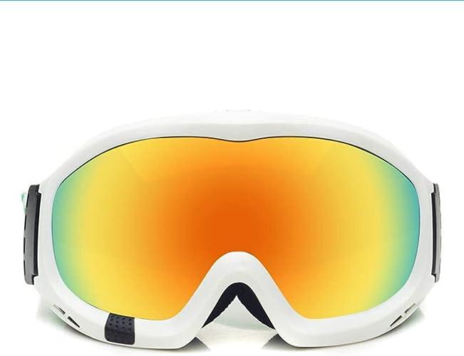 JBP Max Lunettes De Ski Lunettes De Sport Lunettes De Ski Lunettes De Soleil Double Anti-Buée Polariseur Lunettes Grand Objectif Sphérique