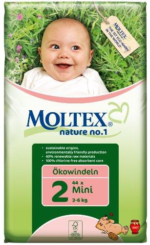 Moltex Nature, Pannolini ecologici, misura 2 (3-6 kg), 44 pz.