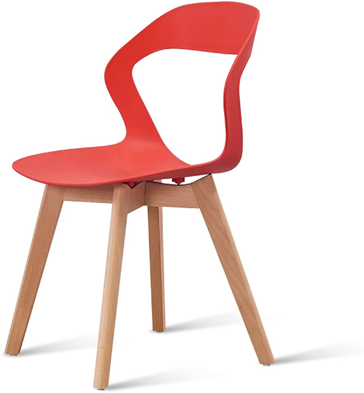LRW Nordic Dining Chair, Home Computer Chair, Modern Backrest Chair, Bedroom Chair, Red