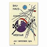 Carteles e impresiones Bauhaus Ausstellung 1923 Weimer exposición póster cuadro de arte de pared cuadro de lienzo sin marco familiar L 50x75cm