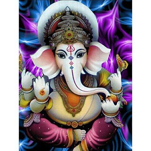5D Mosaico Diamante Elefante Dios Completo Diamante Redondo Mosaico Imagen De Venta Diamante Bordado Icono Religioso