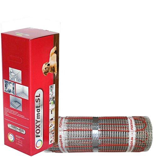 Preisvergleich Produktbild FOXYSHOP24-elektrische Fußbodenheizung PREMIUM MARKE FOXYMAT.SL RAPID (200 Watt pro m², für die schnelle Erwärmung) ohne Thermostat,  2.5 m² (0.5m x 5m)