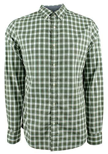 Michael Kors Men's Slim Fit Plaid Long Sleeve Shirt-VG-S