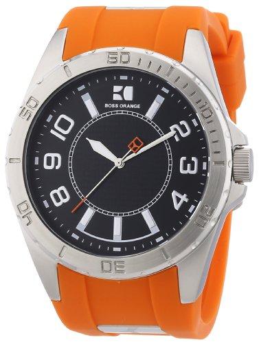 Boss Orange Icon 1512808 - Reloj analógico de Cuarzo para Hombre, Correa de Silicona Color Naranja