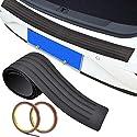 SNAGAROG Stoßstangenschutz gummi Heckstoßstange Protector Guard Anti-Scrape-Gummi-Stoßstangenschutz, perfekte Passform für die meisten Autos