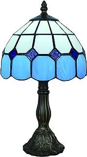 Gweat 8 Pouces Méditerranéenne De Style Tiffany Table Ambre Lampe De Chevet De La Chambre (4 Couleurs Pour Choisir)