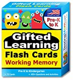 TestingMom.com Gifted Learning Flash Cards – Focus and Memory for Pre-K – Kindergarten – Gifted and Talented Educational Toy Practice for CogAT Test, Iowa Test, OLSAT, SCAT, WISC, WPPSI, AABL and more