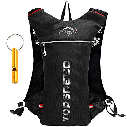 HINATAA Lightweight Hydration Vest Backpack, 5L 250g Running Hydration Backpack for Outdoor Hiking Cycling Camping Climbing (Black)