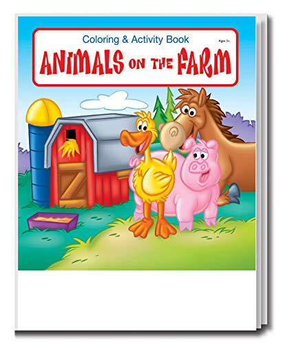 25-Pack - Animals on The Farm - Coloring and Activity Books for Kids, Without Crayons - Creative & Educational Gifts for Girls and Boys - School Supplies - Inexpensive Handouts - Games & Puzzles