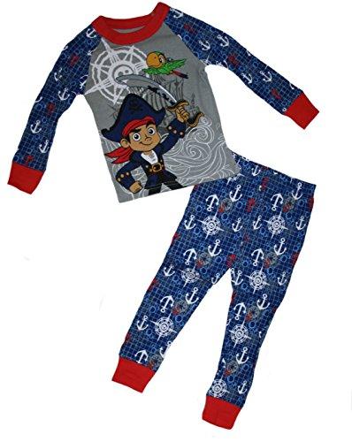 Jake and The Neverland Pirates Jake & Skully Little Boys' 2 Piece Pajama Set (2) Blue