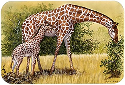 "Caroline's Treasures BDBA0309LCB""Giraffes by Daphne Baxter"" Glass Cutting Board, Large, Multicolor"