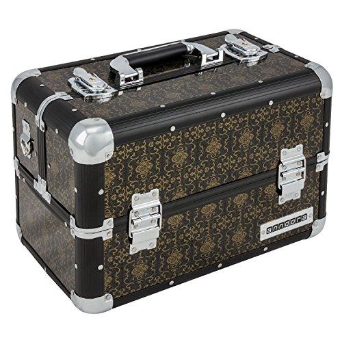 anndora Beauty Case Kosmetikkoffer Schmuckkoffer 21 L - Alu schwarz Renaissance